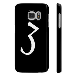 "Black ""3"" Phone Case"