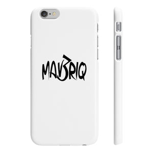 White MAV3RIQ Phone Case