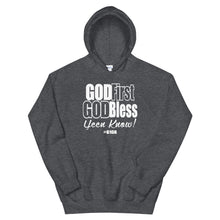 Load image into Gallery viewer, God First God Bless Hoodie (White print)