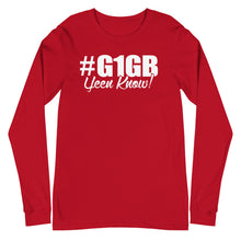 Load image into Gallery viewer, #G1GB Long Sleeve Tee (White Print)
