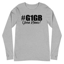 Load image into Gallery viewer, #G1GB Long Sleeve Tee (Black Print)