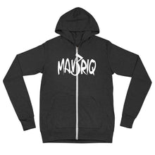 Load image into Gallery viewer, MAV3RIQ Zip Up hoodie (White print)