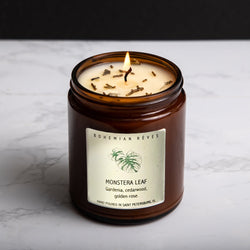 Bohemian Rêves Monstera Leaf Candle