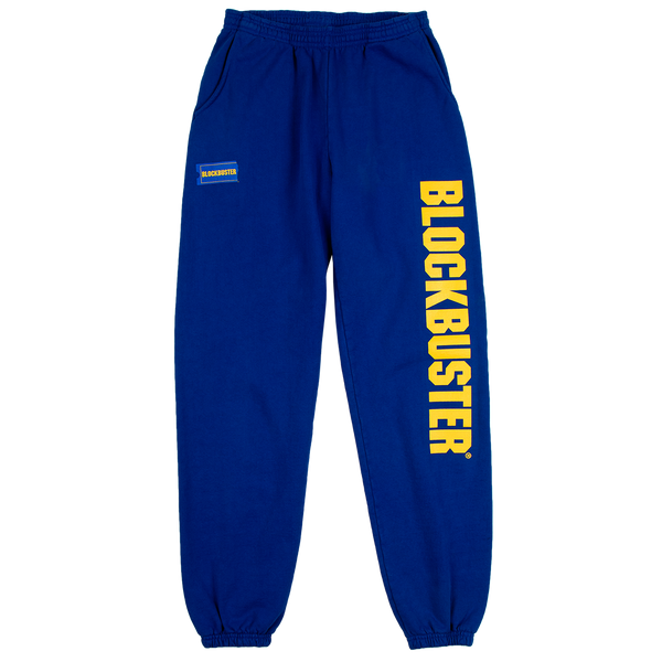 Blockbuster Logo Hit Blue Heavyweight Sweatpants