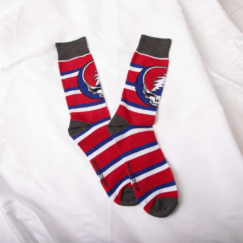 Grateful Dead Steal Your Face Stripe Socks