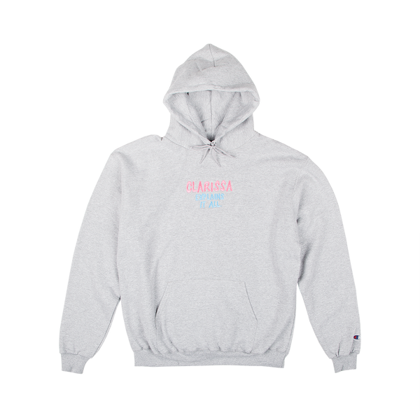 Clarissa Embroidered Champion Hoodie Grey
