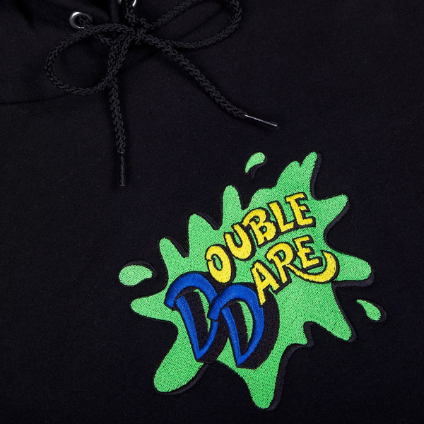 Double Dare Embroidered Champion Hoodie Black