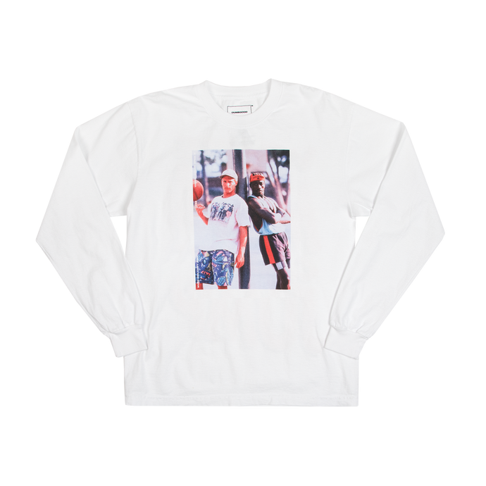 White Men Can't Jump White Long Sleeve Tee