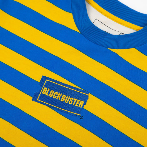 Blockbuster Embroidered Striped Long Sleeve Tee