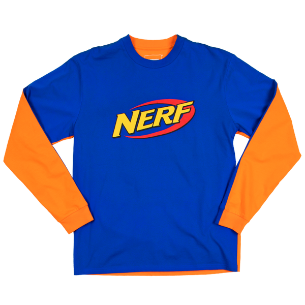 Nerf 50/50 Blue & Orange Long Sleeve Tee