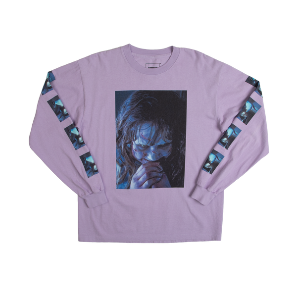The Exorcist Photo Booth Lavender Long Sleeve Tee