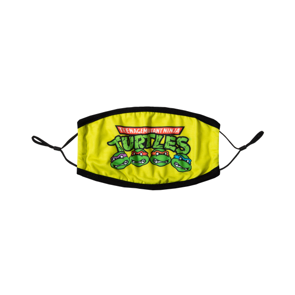 TMNT Logo Acid Lime Face Mask