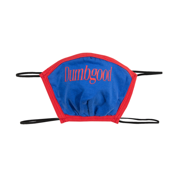 Dumbgood Logo Blue Face Mask