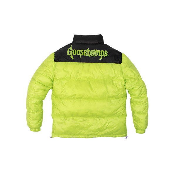 Goosebumps Lime Puffer Jacket