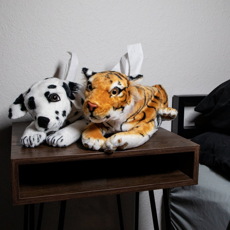 Tiger Plush Tissue Holder