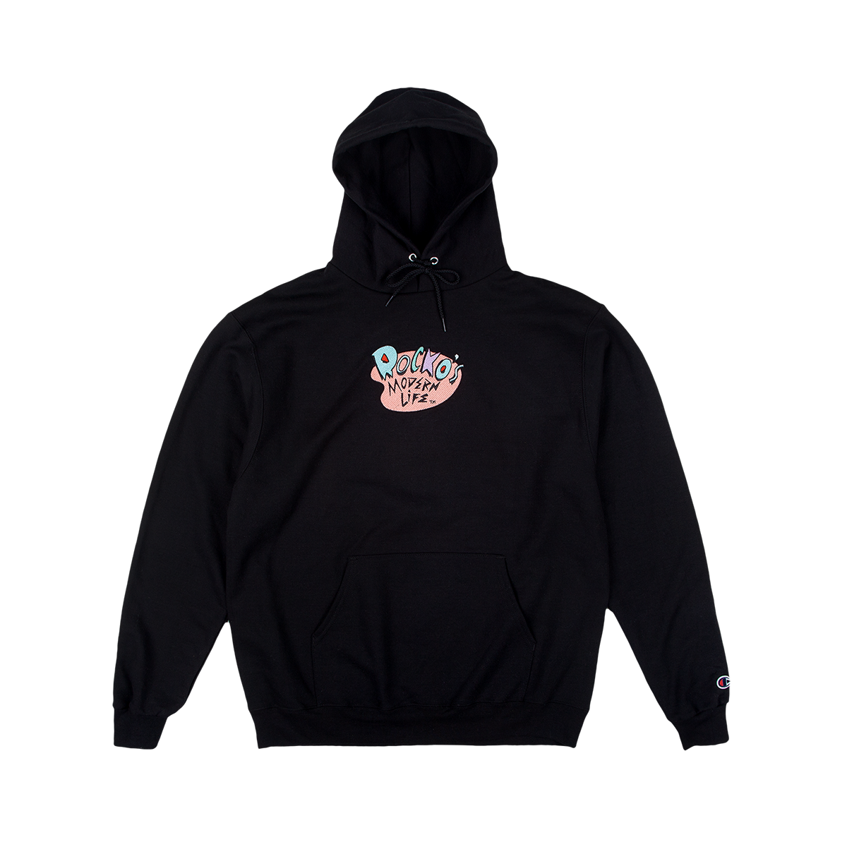 Rocko's Modern Life Embroidered Champion Hoodie Black