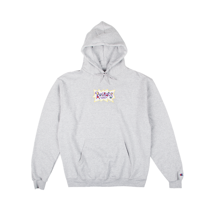 Rugrats Embroidered Champion Hoodie Grey