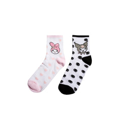 Sanrio My Melody & Kuromi Mismatched Socks