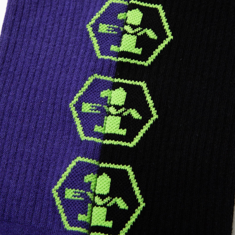 Evangelion Black & Purple Socks