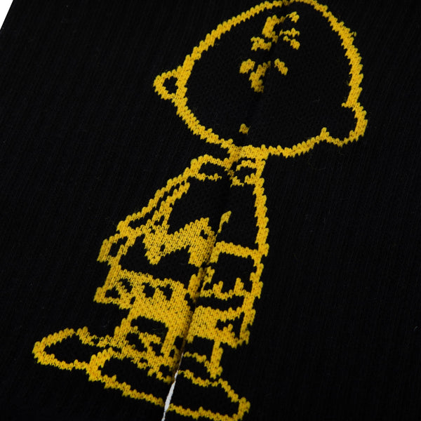 Peanuts Charlie Brown Black Socks