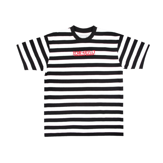 Cowboy Bebop Black and White Stripe Tee
