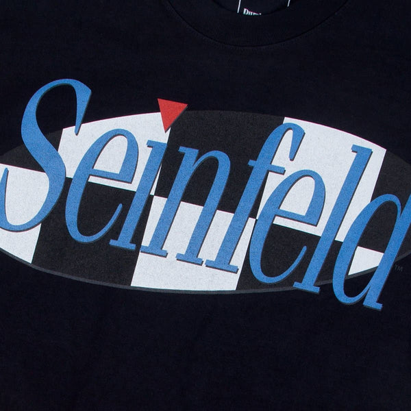 Seinfeld Checker Logo Black Tee