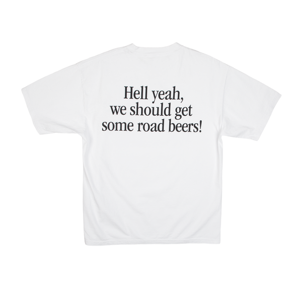 Dumbgood Superbad Road Beers White Tee