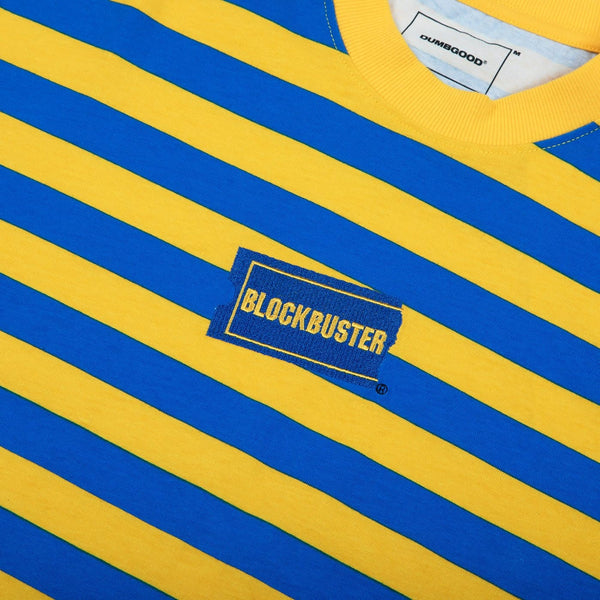Blockbuster Embroidered Striped Short Sleeve Tee