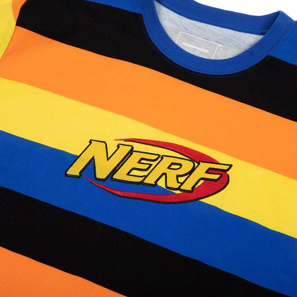 Nerf Embroidered Logo Striped Tee