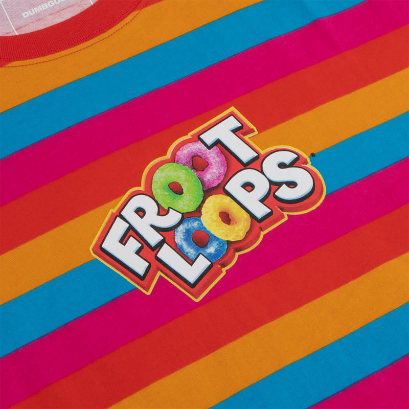 Froot Loops Follow Your Nose Striped Tee