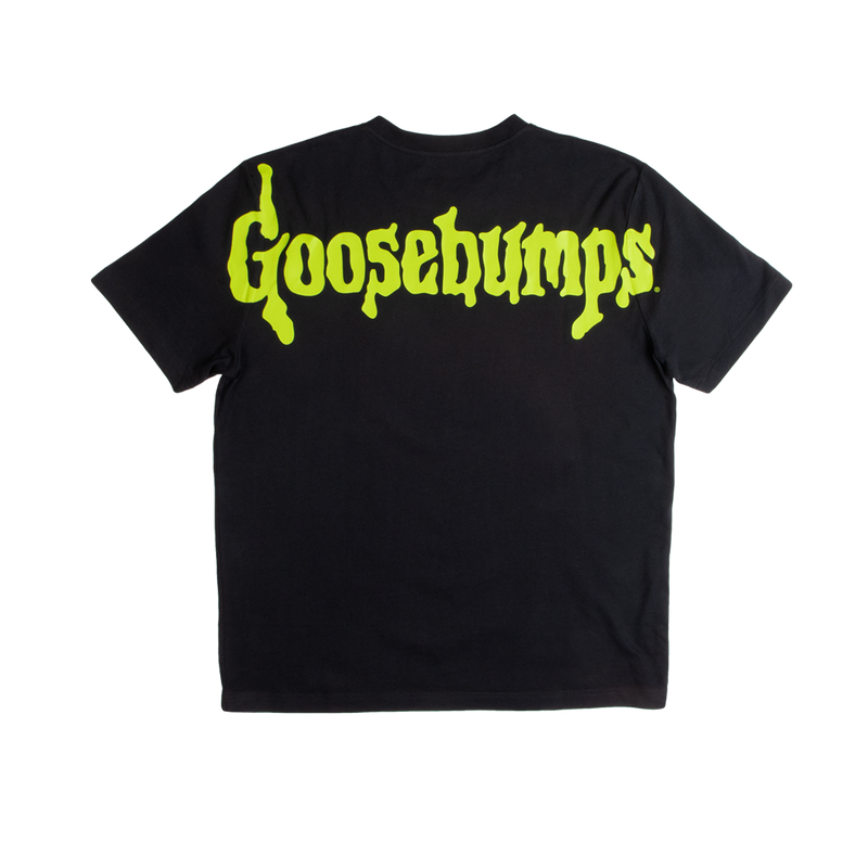 Goosebumps Glow Big Print Black Tee