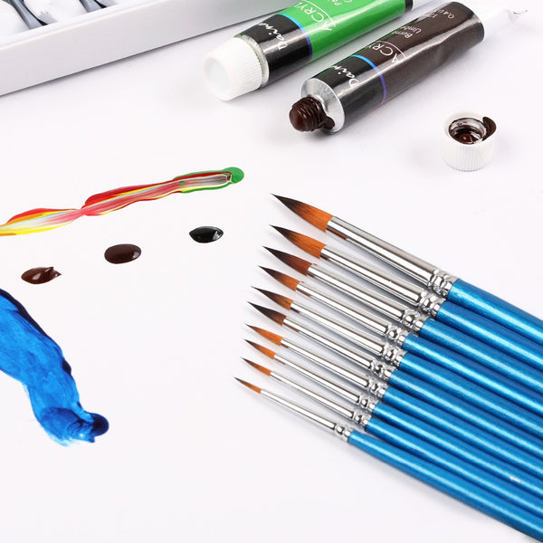 10 Miniature Brushes Pen set For Watercolor