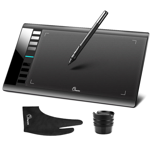 Digital Drawing Tablet w/Pen & Anti-fouling Glove