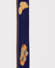 FOOTWEAR NEEDLEPOINT BELT IN NAVY