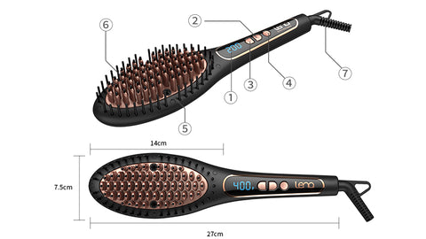 Hair Straighten Ionic Steam Brush