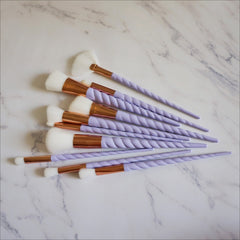 Unicorn Spiral Makeup Brushes