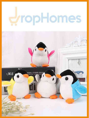 NEW Penguin Stuffed TOY With Keychain