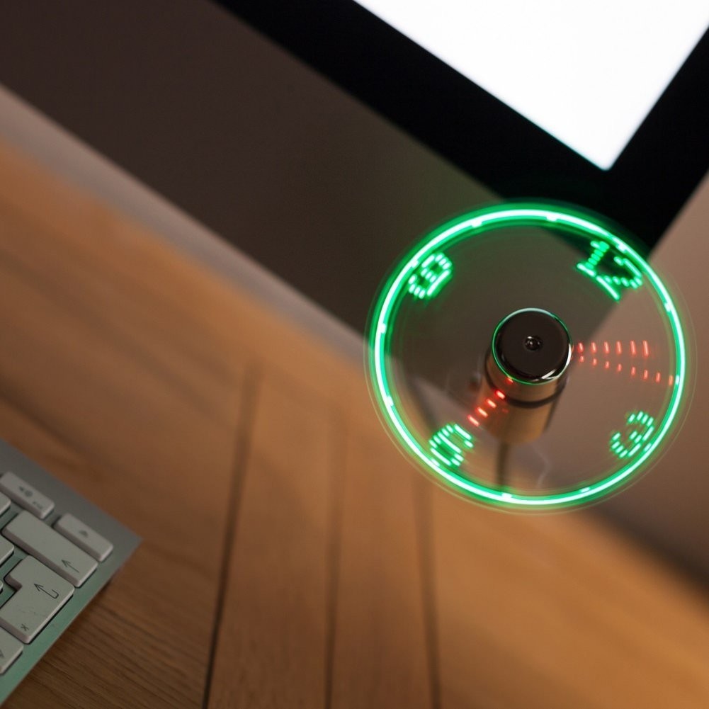 USB Fan LED Clock