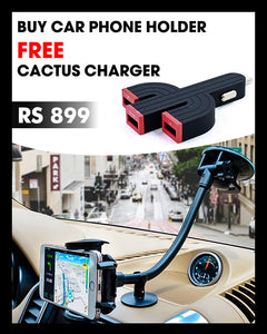 Buy Car Phone Holder Get Cactus Charger Free