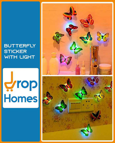 Butterfly Sticker With Light