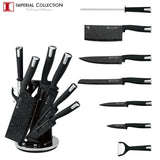 Imperial Collection IM-SL8: Ensemble de 8 Couteaux Avec Support