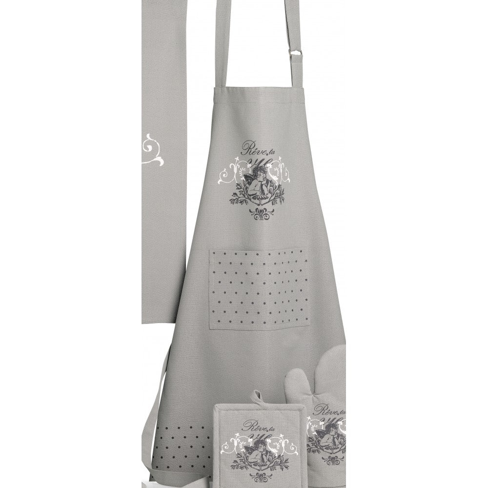 Tablier de cuisine Anges Gris 72 x 85