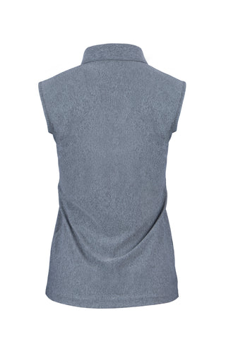 Women's Mélange Sleeveless Polo