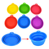Collapsible Dog Folding Silicone Bowl | Water/Food Dish for Travel - Swag for My Dog