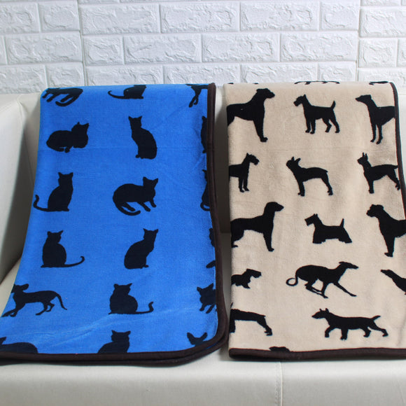 Stylin' Dog Print Pet Throw Blanket - Swag for My Dog