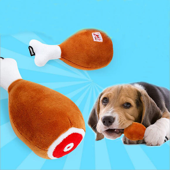 Hot sale pet dog toys Novelty Big Drumstick Dog Toys 18cm Length Puppy Squeak Toys Dog Chew Toy For Universal Pets - Swag for My Dog