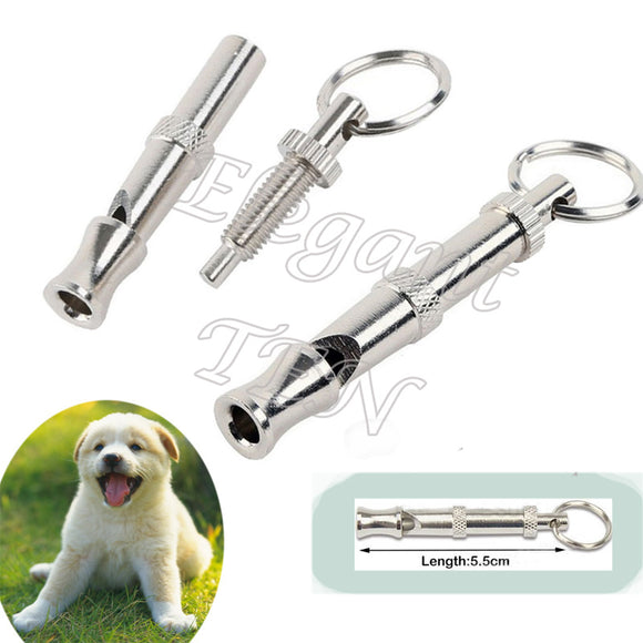Portable Mini Adjustable UltraSonic Pet Puppy Training Whistle Flute Stainless Steel Clickety Dog Inubue Keychain - Swag for My Dog