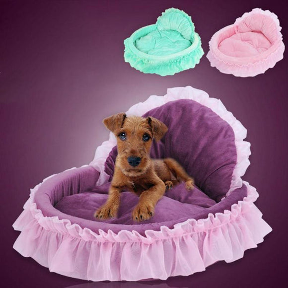 Pet Supplies Soft Warm Cat Dog Bed House Cute Lace Princess Pet House For Small Dog Cat Kennel Nest Pet dog Gift Bed cute 35 - Swag for My Dog