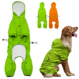Pet Dog Hooded Raincoat for Medium to Large Dogs Reflective Dog Waterproof  Rain Coat Jacket For Golden Retriever Labrador S-XL - Swag for My Dog