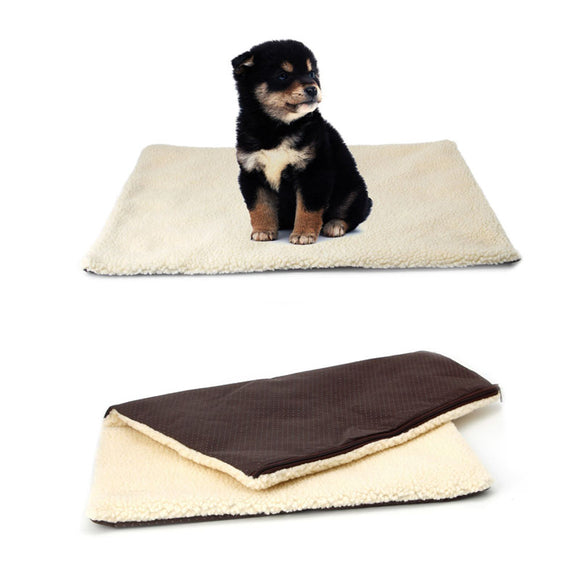 Super Soft Self Heating Cat Dog Bed Cushion Pet Thermal Warm Fleece Rug Mattress -Y102 - Swag for My Dog